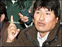 Evo Morales, l�der cocalero boliviano