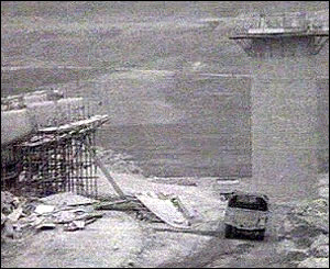 Construction site at the Tryweryn valley