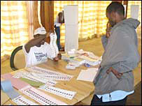 Voting in Monrovia