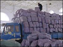Разгрузка товаров из Китая