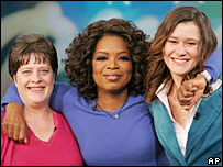 Jean Rosenthal, Oprah Winfrey and Karie Miller (right)