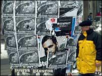 Pro-Mladic posters in Belgrade