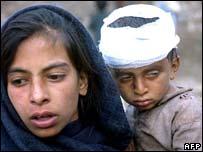 ضحايا للزلزال في بالاكوت