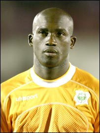 The Ivory Coast's Marc Zoro