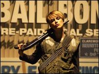 Keira Knightley stars as bounty hunter Domino Harvey
