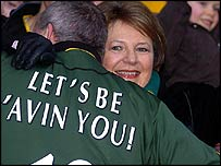 Delia Smith and fan
