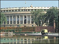 Indian Parliament House in the Indian capital, Delhi