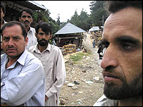 Villagers on the road to Murree