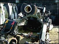 A (deactivated) 155mm howitzer