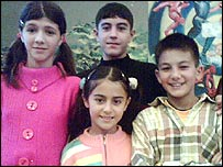The four children from Azerbaijan