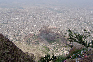 Birds eye view of Taiz