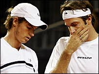 Andy Murray and Greg Rusedski