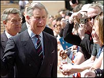 Prince Charles in Wellington's civic square