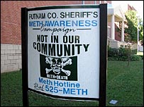 Methamphetamine warning sign