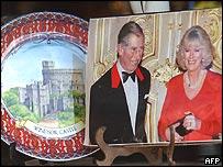 Royal paraphernalia on sale at a giftshop