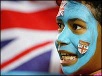 A Fiji rugby supporter