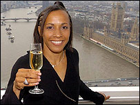 Kelly Holmes on London Eye