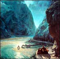 ''В горах Кавказа'', картина XIX века