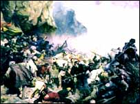 ''Штурм Гуниба'', картина Горшкельта 1863 год