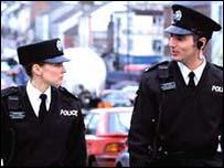 PSNI officers on patrol