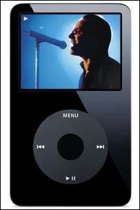The black Apple iPod, Apple