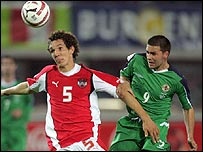 Austria beat Northern Ireland in a World Cup qualifier