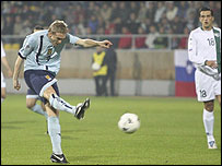 Darren Fletcher scored an early goal for Scotland