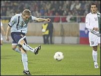 Darren Fletcher scored an early goal for Scotland