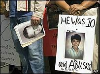 Manifestantes en Los �ngeles