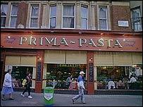 Restaurante de pasta