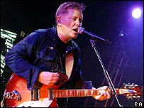 New Order singer Bernard Sumner at John Peel tribute gig