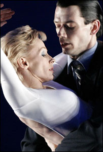 "Dancer's Zara Deakin and Sean Ganley, respectively as Princess Diana and Charles, act out a scene from the ballet ""Diana the Princess"""