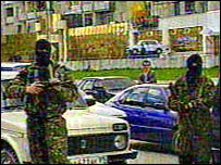Russian forces in Nalchik
