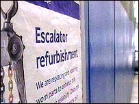 Tube refurbishment sign