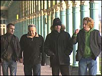 Members of the Brighton based band Los Albertos