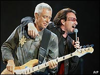 U2's Bono and Adam Clayton