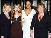 Coronation Street actresses, from left to right; Jane Danson, Samia Ghadie, Tupele Dorgu and Wendi Peters