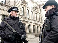 Armed British police