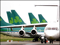 Aer Lingus planes on runway