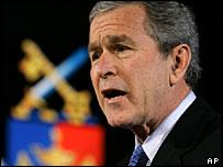 George W Bush speaks at the National Defense University in Washington DC