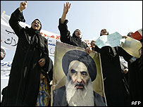 Shia supporters of Ayatollah Sistani