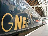 GNER train in station