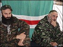 Aslan Maskhadov and Shamil Basayev