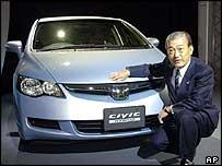 Takeo Fukui, president of Honda Motor