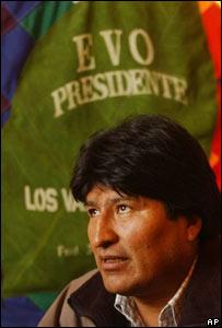 Diputado socialista Evo Morales