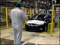 Honda worker at the Swindon factory
