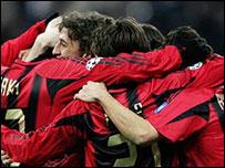 El AC Milan celebra