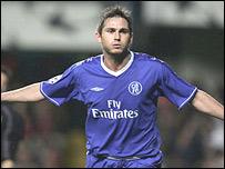 Frank Lampard celebra su gol
