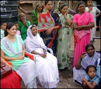 Women meeting in slums