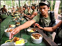 Farc rebel camp
